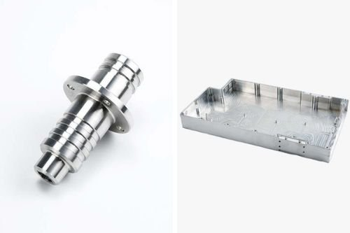 CNC turned part and milled part