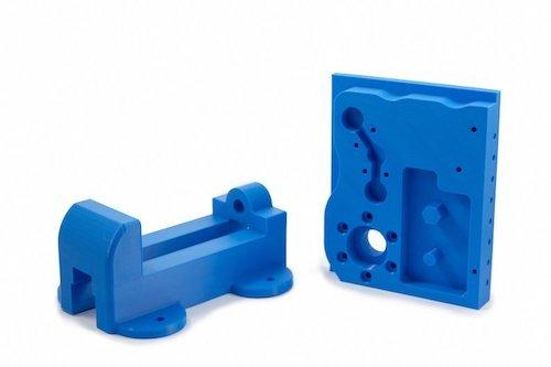 Blue plastic prototype